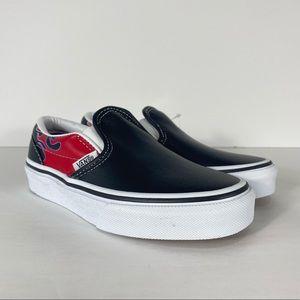 Vans Classic Slip-On Moto Flame Black Sneakers